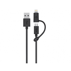 Cable Usb Key Datos Cargador A Micro Usb + Lightning iPhone