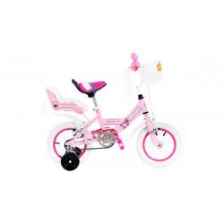 Bicicleta Cross Topmega Princess R12 Nena + Rueditas Colores