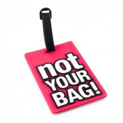 Identificador de Valija not your bag Fucsia