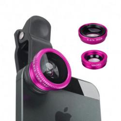 Kit Rosa de 3 lentes para celular
