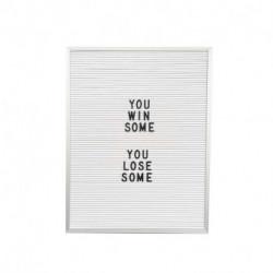 Retro Board Blanco con letras