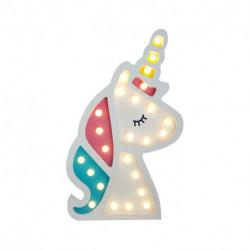 Lampara Unicornio led MDF