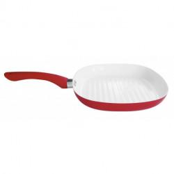 Bifera cerámica 25 cm Rojo Carol