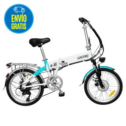 Bicicleta electrica rodado 20 Blanca