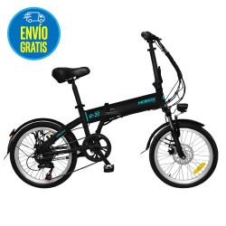 Bicicleta electrica rodado 20 Negra