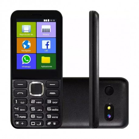 CELULAR KANJI KJ-MUV 3G WIFI WHATSAPP FACEBOOK DUAL SIM NEGRO