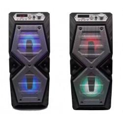 PARLANTE PORTATIL KANJI DANCE 10W BLUETOOTH USB TF RADIO FM LED