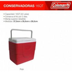 CONSERVADORA COLEMAN BEACH 16QT ROJO