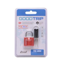 Candado rojo con llave goodtrip lsyd
