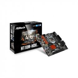 MB INTEL (1151) ASROCK H110M-HDV R3.0 VGA/HDMI DDR4X2 2133Mhz 4SATA3 4USB3.1 (PN:90-MXB4W0-A0UAYZ)