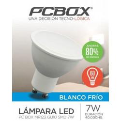 LAMPARA LED PC BOX MR123 GU10 SMD 7WBF DICROICA SMD 7W BLANCO FRIO 650LM 6000K