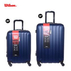 "Set de 2 Valijas Rigidas Wilson carry on 20""- Mediana 24"" -4 Ruedas Azul"