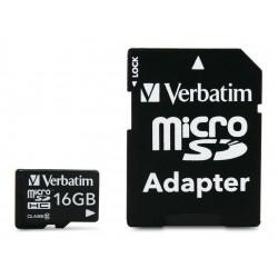 Memoria Micro Sd 16gb Verbatim Clase 10 Celular + Adaptador