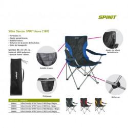 SILLON DIRECTOR SPINIT ACERO C1807 GRIS/NEGRO