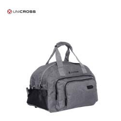 "BOLSO UNICROSS 18"" colores gris claro y oscuro"