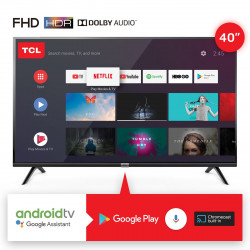 "SMART TV 40"" TCL GOOGLE ASSISTANT NEGRO"