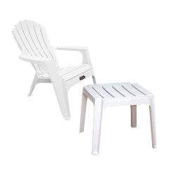 Sillon Country Blanco + Mesa Barcelona - Colombraro