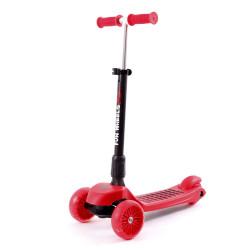 Monopatín Fun Wheels Xl - Plegable - Luces Led - Aluminio - Rainbow®