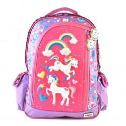 "Mochila Kooshi Pony Lila Espalda 17"""