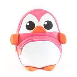 "Mochila Kooshi Neoprene Pingüino Rosa 10"""