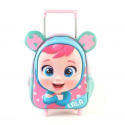 "Mochila Cry Babies Lala 3d Con Carro 11"""