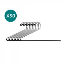 PACK X50 PERCHAS DE ALAMBRE PARA PANTALONES