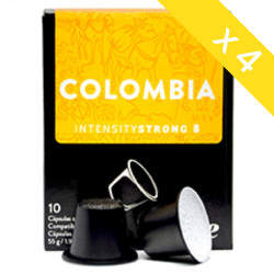 Capsulas The Coffee Store comp. Nespresso x 40 Colombia Fuerte