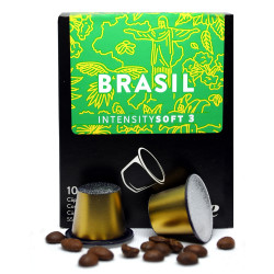 Capsulas de Cafe The Coffee Store compatibles Nespresso Brasil Suave