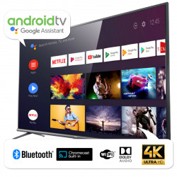 Smart TV 50 4K HDR Bluetooth Voice Control Android Chromecast