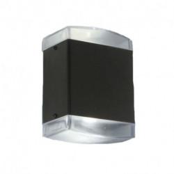 Bidireccional dos lamparas E27 Led Policarbonato Faroluz (4312/ Negro)