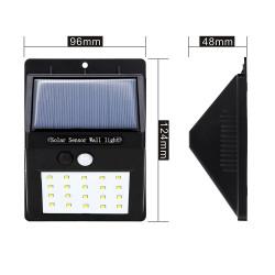 Reflector solar 20W LED seguridad perimetral Solarline