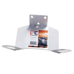 Soporte de acero para manguera reforzado 2.00mm blanco SC