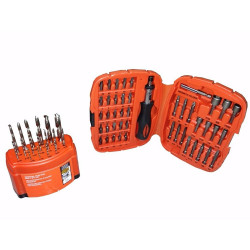 Set para taladro de 62 piezas Black And Decker 71-797