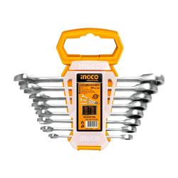 Juego Llaves Crique Combinadas 8 Piezas 8-19 mm Industrial Ingco HKSPAR1082