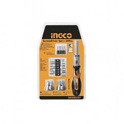 Set de destornillador industrial 24 piezas Ingco HKSDB0248
