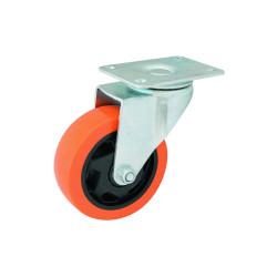 Rueda de PVC base giratoria reforzada 125x32mm Dubai EVOL2830