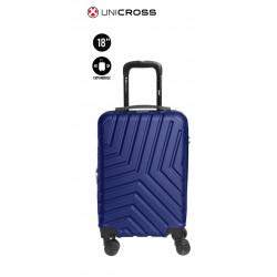"Valija rigida de ABS Unicross de 18"" azul"