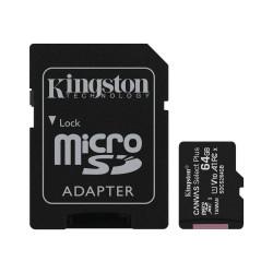 TARJETA DE MEMORIA MICROSD 64GB KINGSTON CANVAS PLUS CLASE 10 UHS-I 100 MB/s