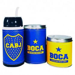 Combo mate listo yerbera y azucarera Boca Juniors