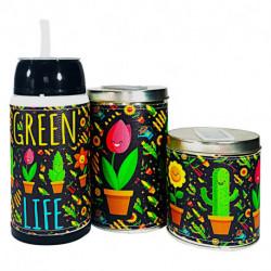 Combo mate listo yerbera y azucarera Cactus