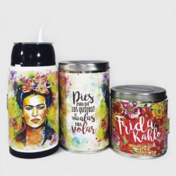 Combo mate listo yerbera y azucarera Frida Kahlo