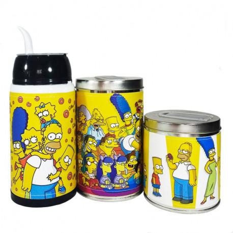 Combo mate listo yerbera y azucarera Los Simpsons
