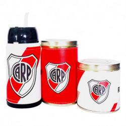 Combo mate listo yerbera y azucarera River Plate