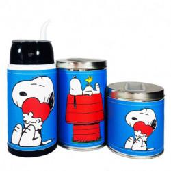 Combo mate listo yerbera y azucarera Snoopy
