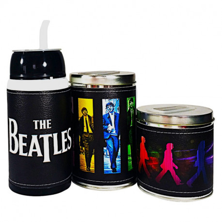 Combo mate listo yerbera y azucarera The Beatles
