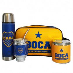 Kit de Bolso de Mano con termo Boca Juniors