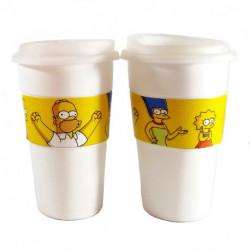 Vasos Térmicos x2 Los Simpsons