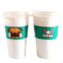 Vasos Térmicos x2 Bulldog y Pug