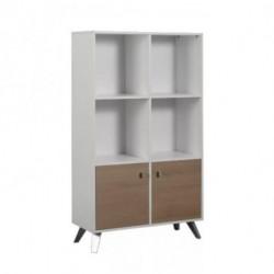 Biblioteca Escandinava 4 estantes Blanco/Ciliegio Dielfe (LE075-BAN5 )