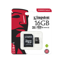 Memoria Micro SD Kingston 16GB C10 Negra